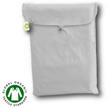 Bedroom Collektion Økologisk kuvertlagen - topmadraslagen hvid 180x200x5