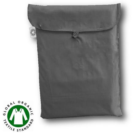 Bedroom Collektion Økologisk kuvertlagen - topmadraslagen koksgrå 90x200