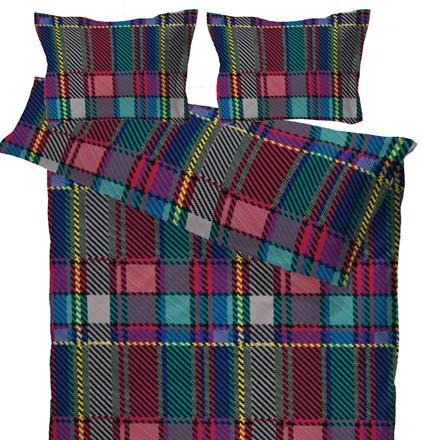 Woven Check multi bomuldssatin sengetøj til dobbeltdyne 200x200