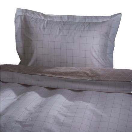 Brooklyn bomuldssatin sengetøj beige 140x220