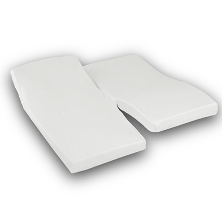 Sopire Absolute White H-splitlagen ægyptisk bomuld 180x200