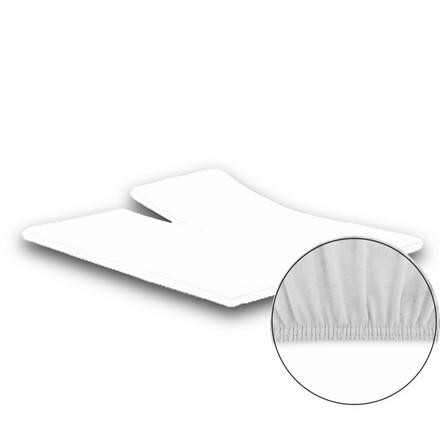 Jersey premium stræk splitlagen 180x200/210 hvid