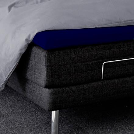 Bedroom Collektion kuvertlagen - topmadraslagen 90x200x5 bomuld mørk blå
