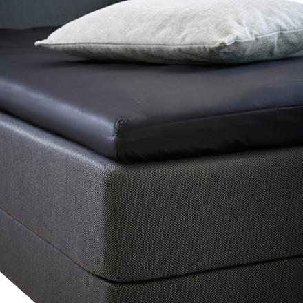 Bedroom Collektion lux kuvertlagen - topmadraslagen bomuldssatin sort 180x200x5