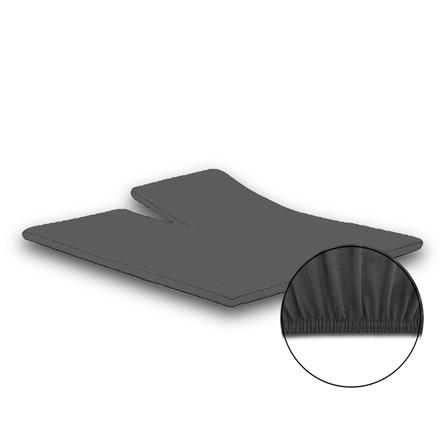 Jersey premium stræk splitlagen 180x200/210 koksgrå