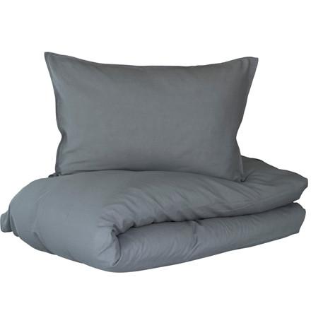 Lykke sengetøj i hør og bomuld 140x200 Koksgrå