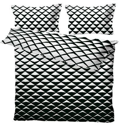 Mads bomuldssatin sengetøj til dobbeltdyne sort 200x220