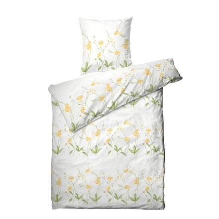 Markblomst bomuldssatin sengetøj 140x200