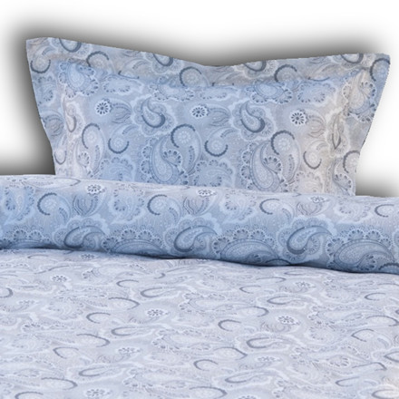 Normandie Grå excellent bomuldssatin sengetøj 140x200