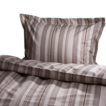 Oden bomuldssatin sengetøj brun 140x200