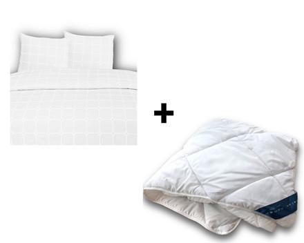 Vaskbar fiber dobbeltdyne incl. Carstel sengetøj 200x220