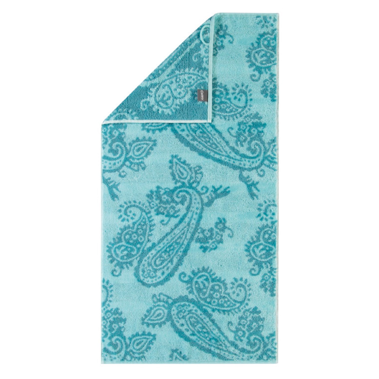 Cawö håndklæde Noblesse Pastel Paisley Akvagrøn 50x100
