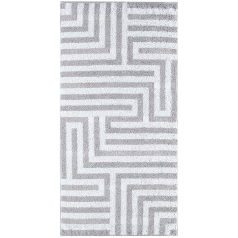 Cawö håndklæde 50x100 Noblesse Graphic Silber