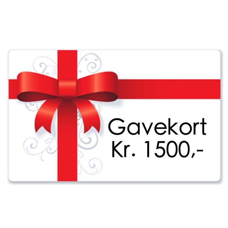Gavekort kr. 1500,-