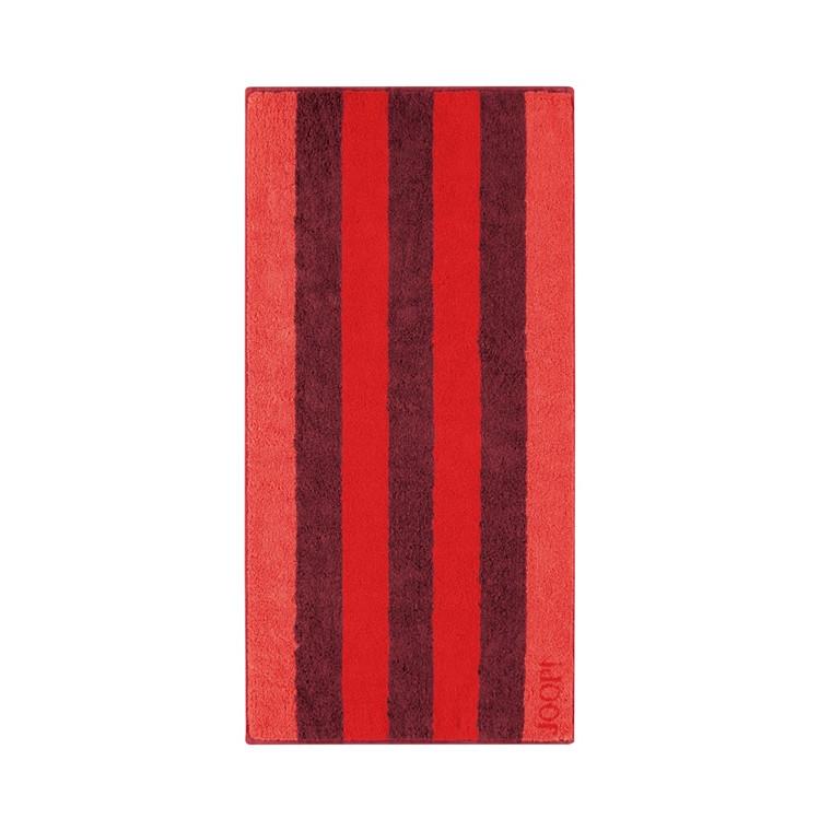 JOOP håndklæde Stripes Mohn 50x100