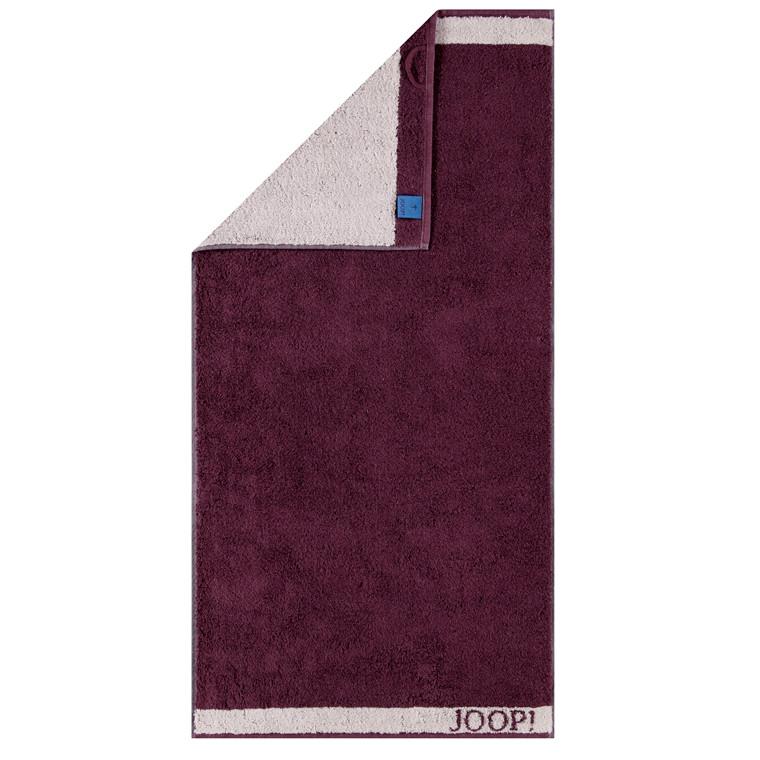 JOOP! håndklæde 50x100 Decor, doubleface Marsala