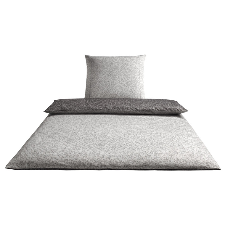 Elegante Romeo Silver-Grey 135x200 Jacquard Satin
