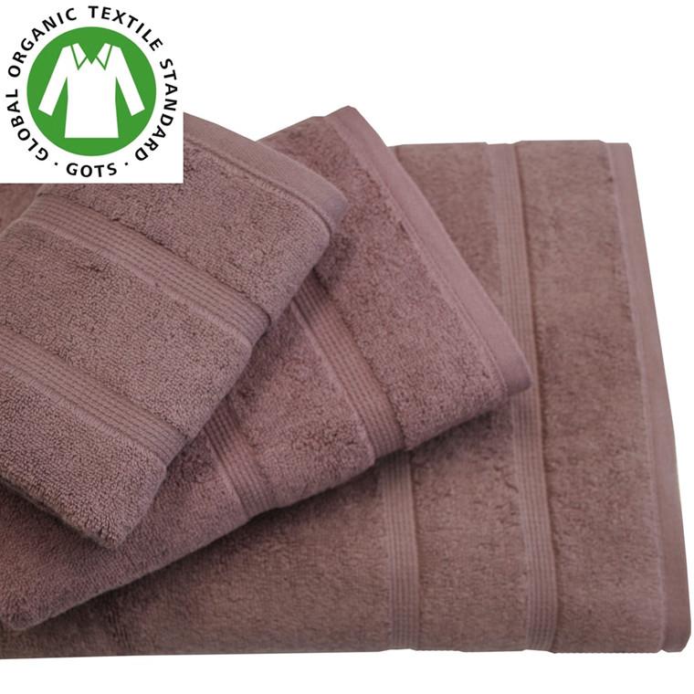 Organic Touch Økologisk badehåndklæde 75x150 Blomme