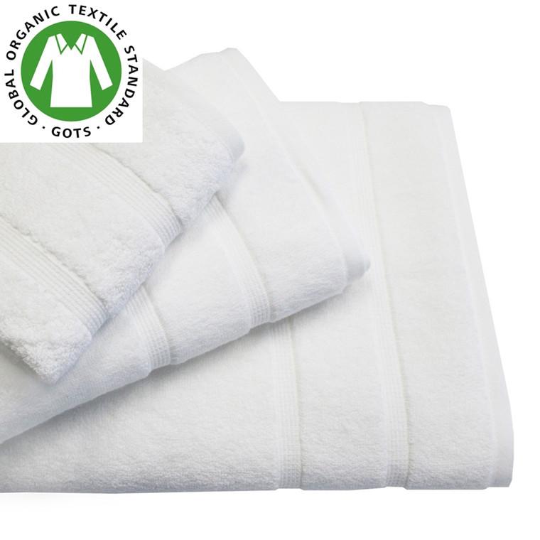 Organic Touch Økologisk badehåndklæde 75x150 hvid