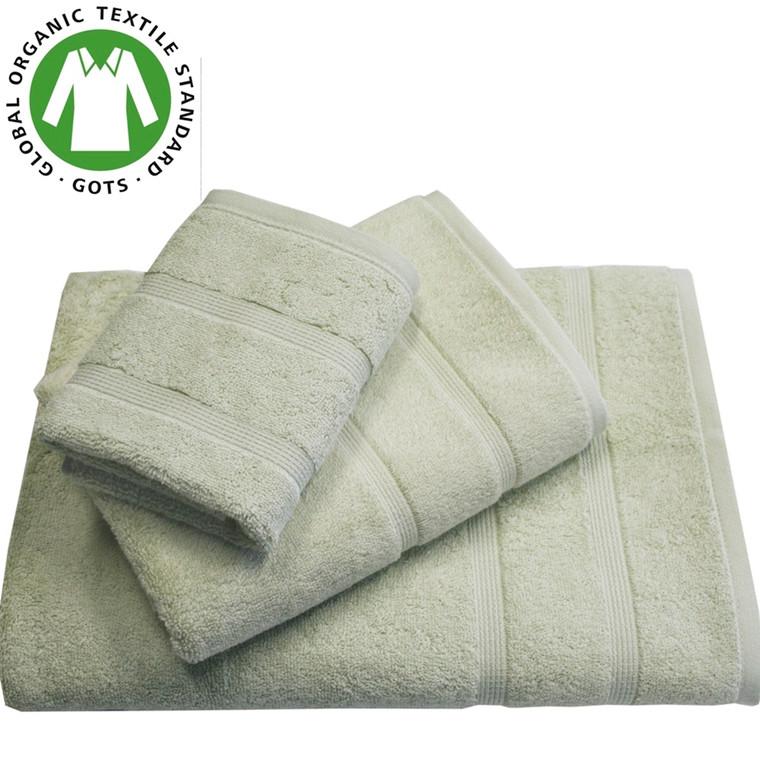 Organic Touch Økologisk badehåndklæde 75x150 grøn