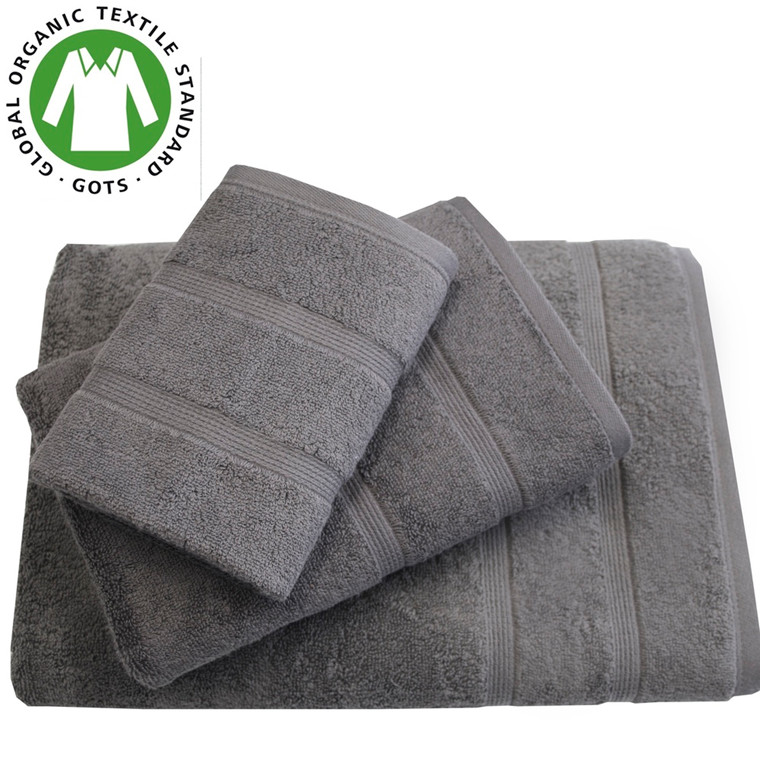 Organic Touch Økologisk badehåndklæde 75x150 møkgrå
