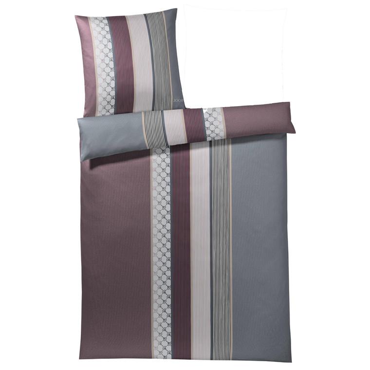 JOOP Sengetøj Cornflower Stripe bordux/grå 135x200