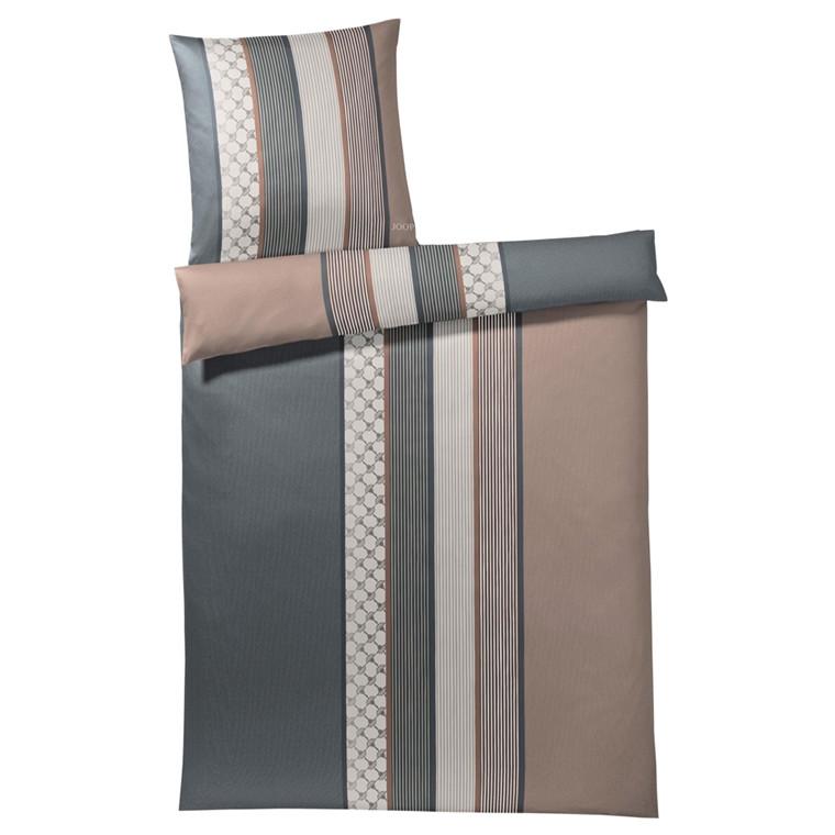 JOOP Sengetøj Cornflower Stripe ler/grå 135x220