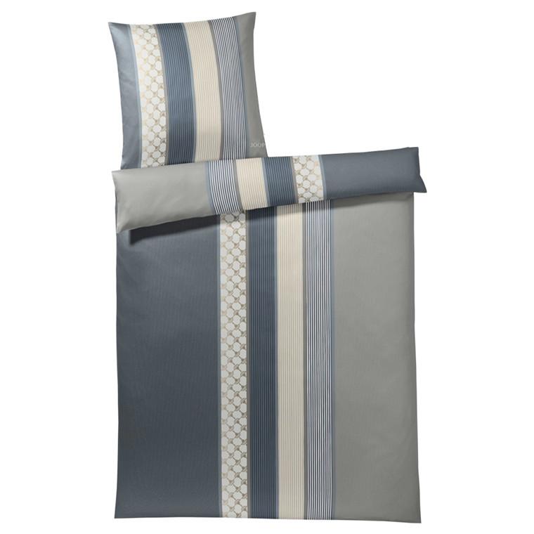 JOOP Sengetøj Cornflower Stripe gråblå 135x200