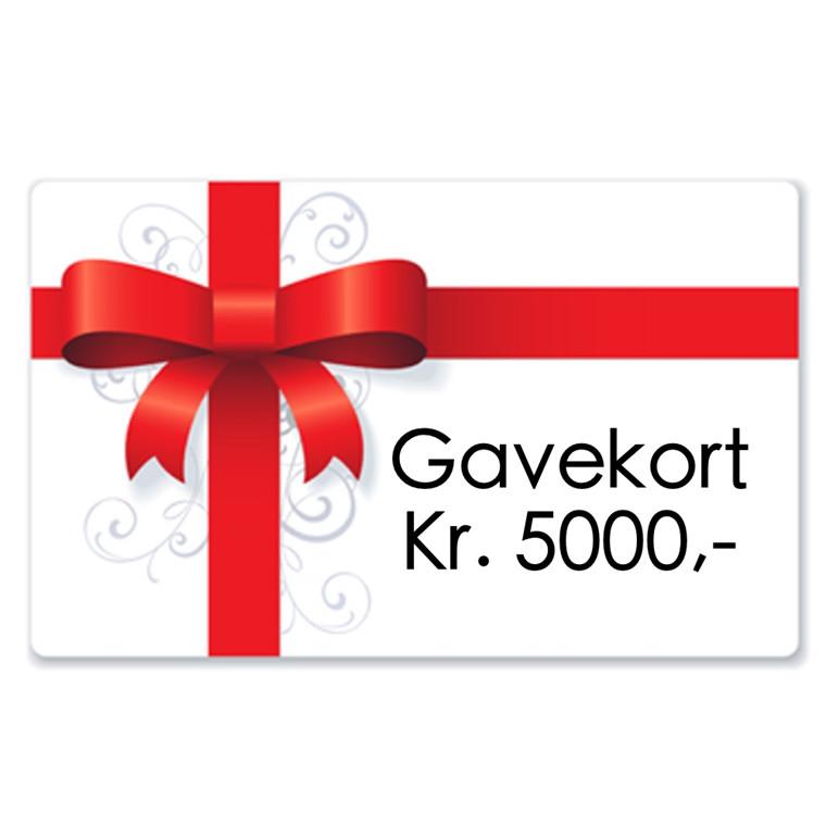 Gavekort kr. 5000,-