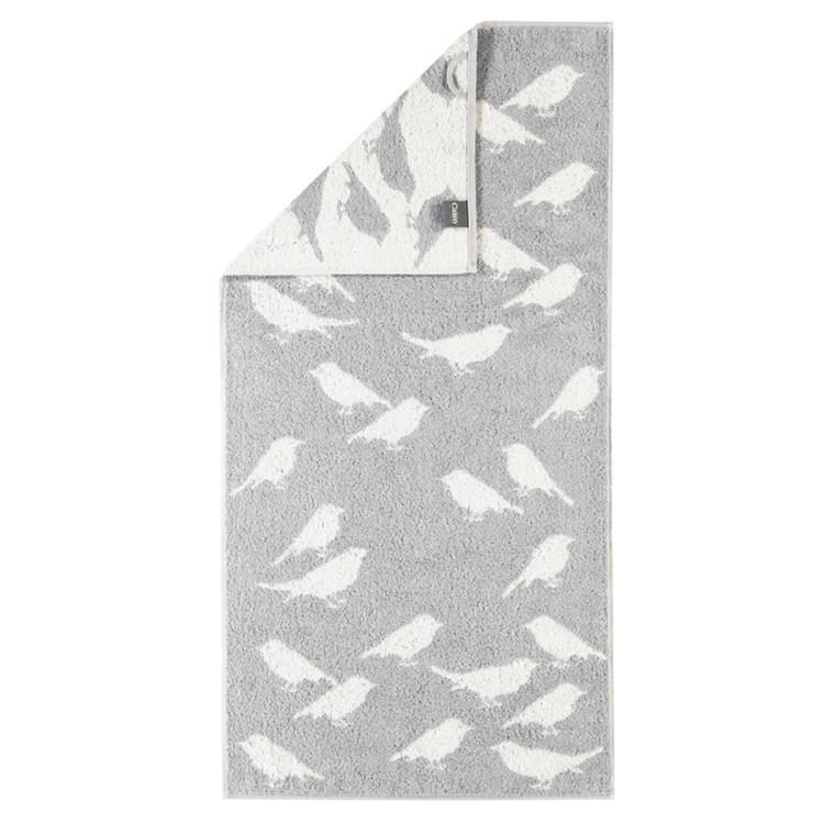 Cawö håndklæde Birds grå 50x100