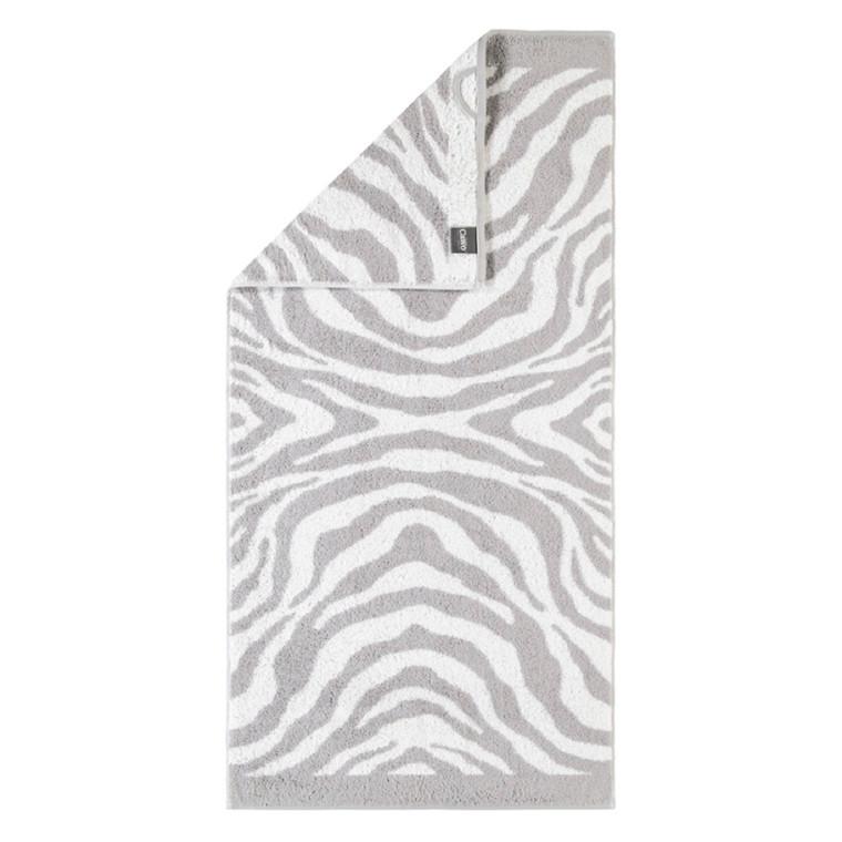 Cawö badehåndklæde Zebra Silber 80x150