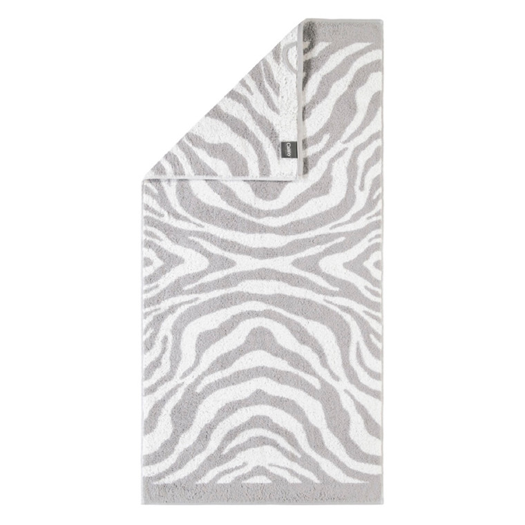 Cawö håndklæde Zebra silber 50x100