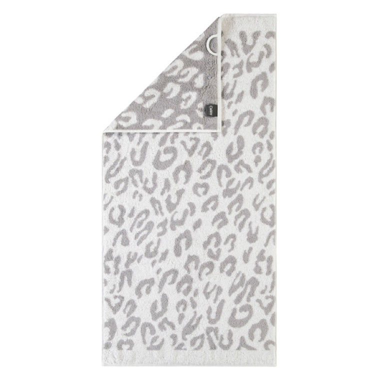 Cawö badehåndklæde Leopard Silber 80x150