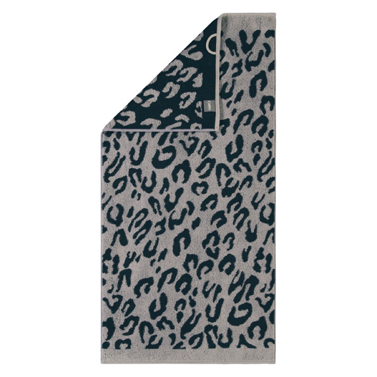 Cawö håndklæde Leopard Antrazit 50x100