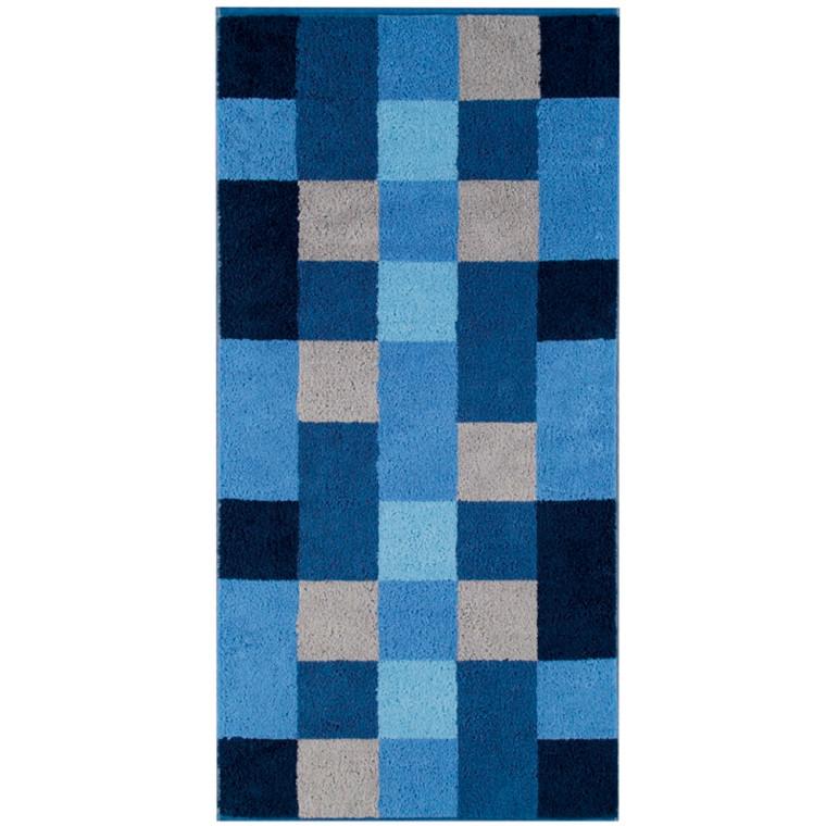 Cawö badehåndklæde 70x140 Stor Mosaik Blå
