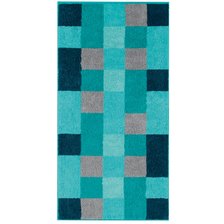 Cawö håndklæde 50x100 Stor Mosaik Turkis