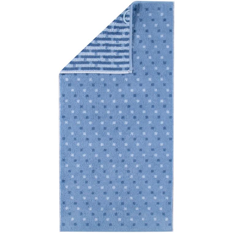 Cawö badehåndklæde Memory Allover Blå 70x140