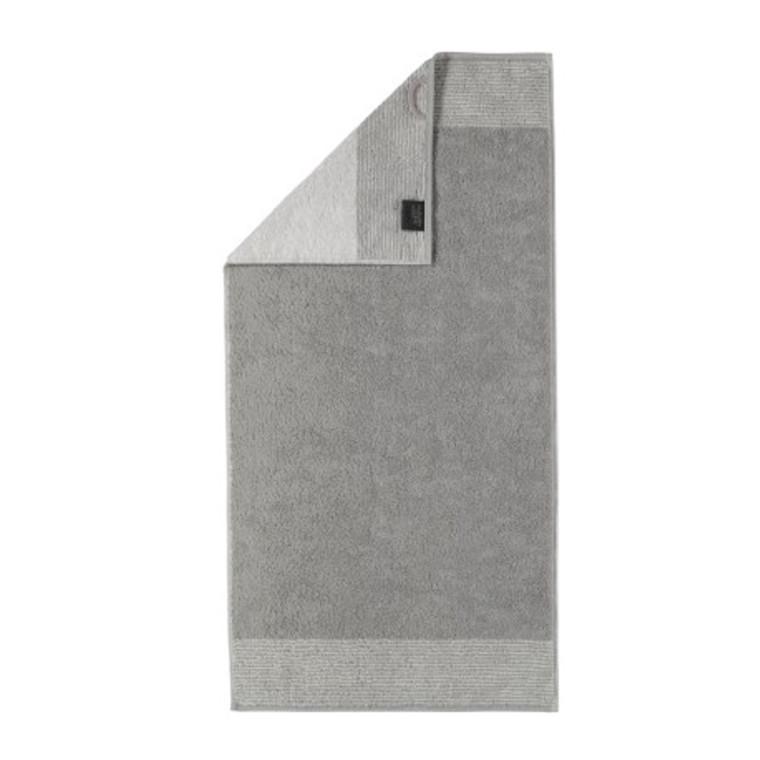 Cawö badehåndklæde Two Tone platin 80x150