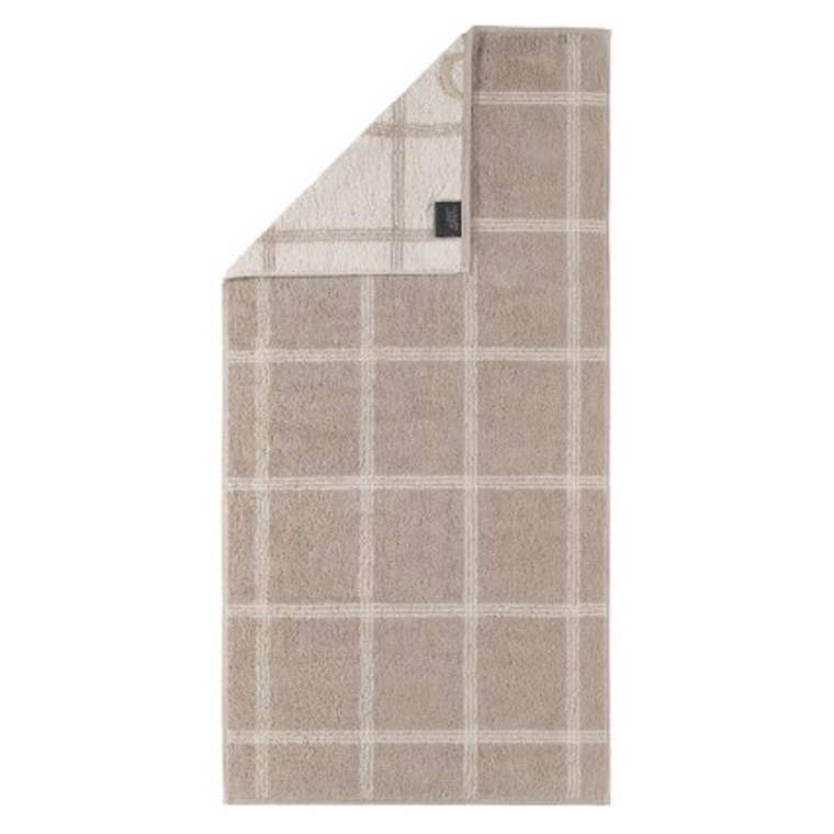 Cawö badehåndklæde Two-Tone Grafik sand 80x150