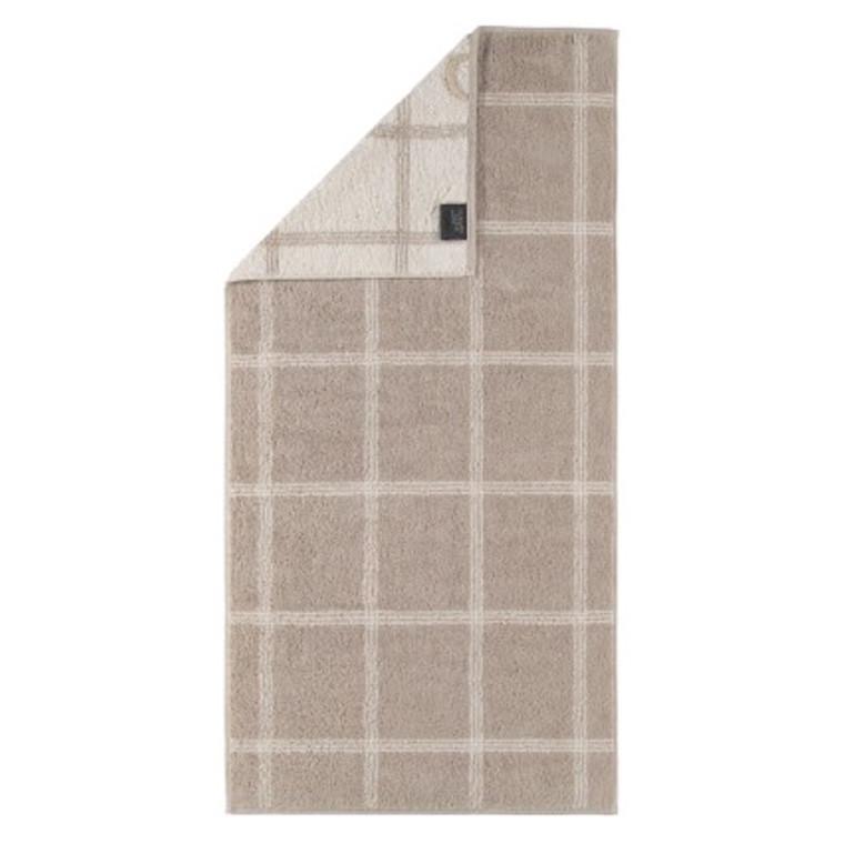 Cawö håndklæde Two-Tone Grafik sand 50x100