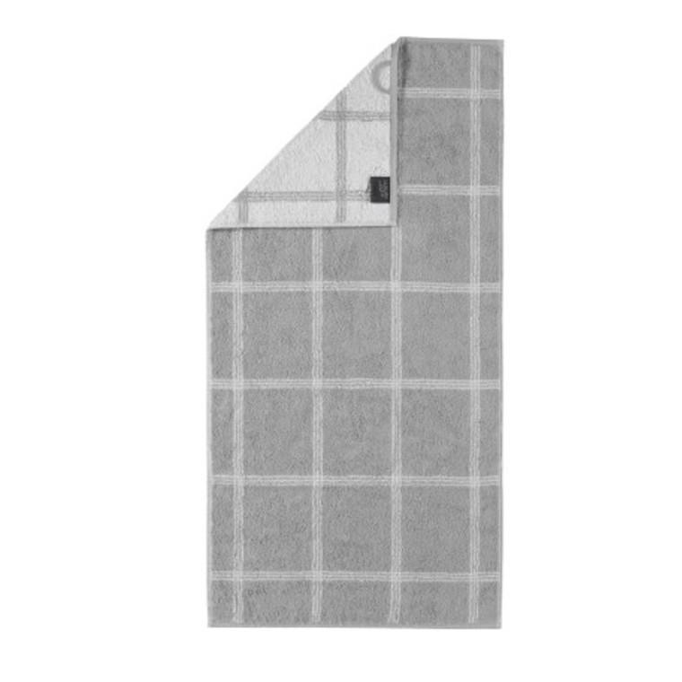 Cawö badehåndklæde Two-Tone Grafik Platin 80x150