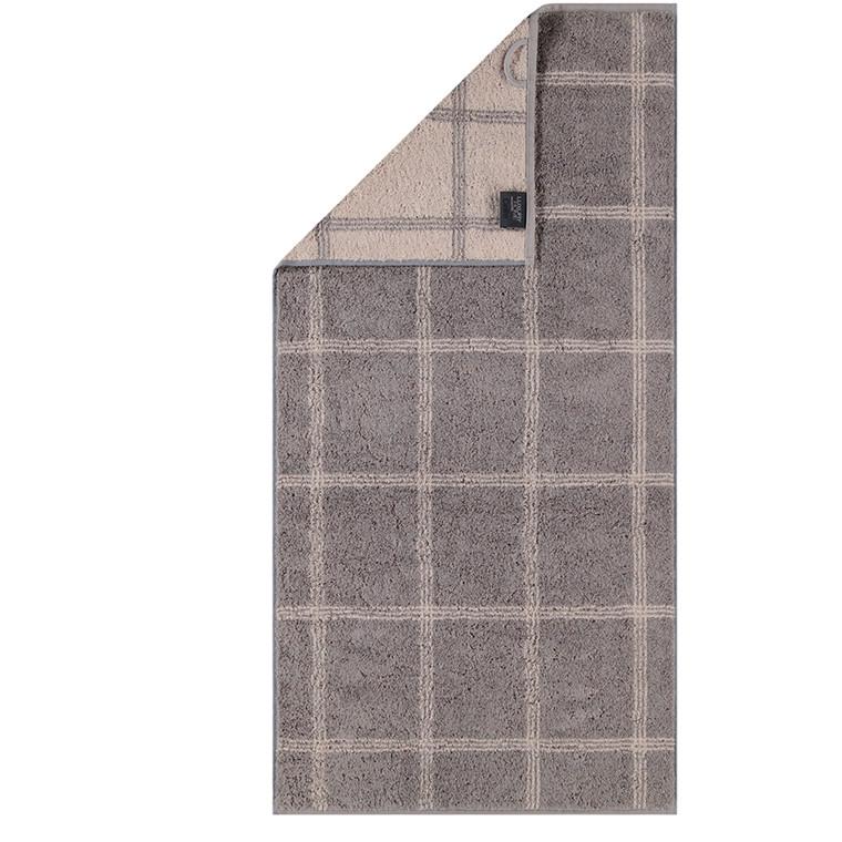 Cawö badehåndklæde Two-Tone Grafik Graphit 80x150