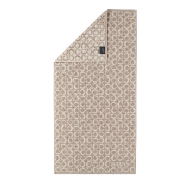Cawö badehåndklæde Two Tone Sand C-Alover 80x150