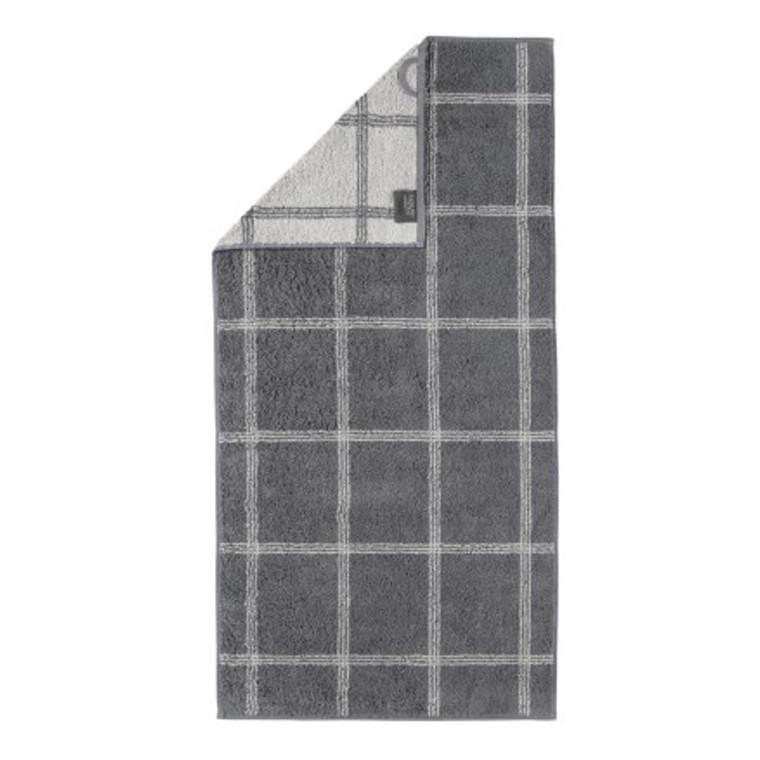 Cawö håndklæde Two-Tone Grafik schiefer 50x100