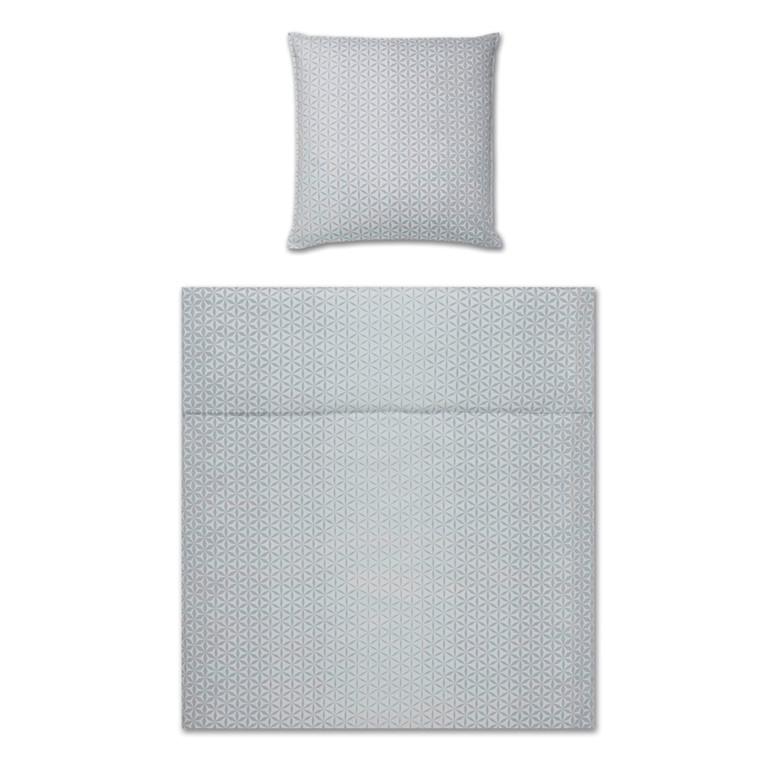 YES! Glow silver Maco-satin sengetøj 763/9 135x220