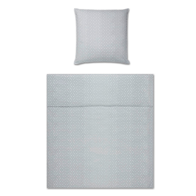 YES! Glow silver Maco-satin sengetøj 763/9 135x200