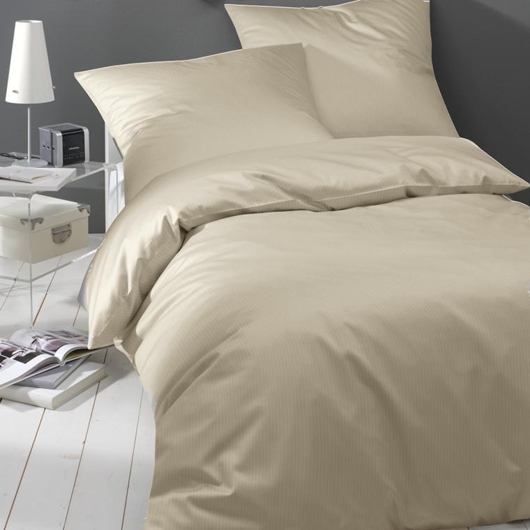 Maco-satin sengetøj sand smalstrib 135x200 902/7