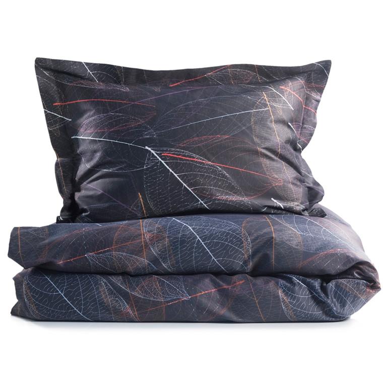 Blad bomuldssatin sengetøj 140x220