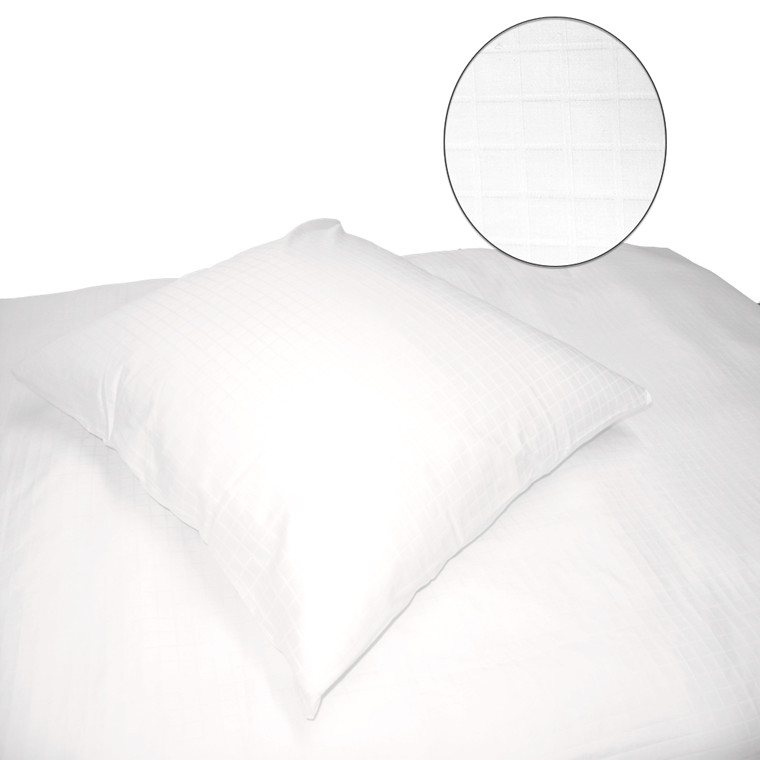 Blokkies bomuldssatin sengetøj hvid 140x200