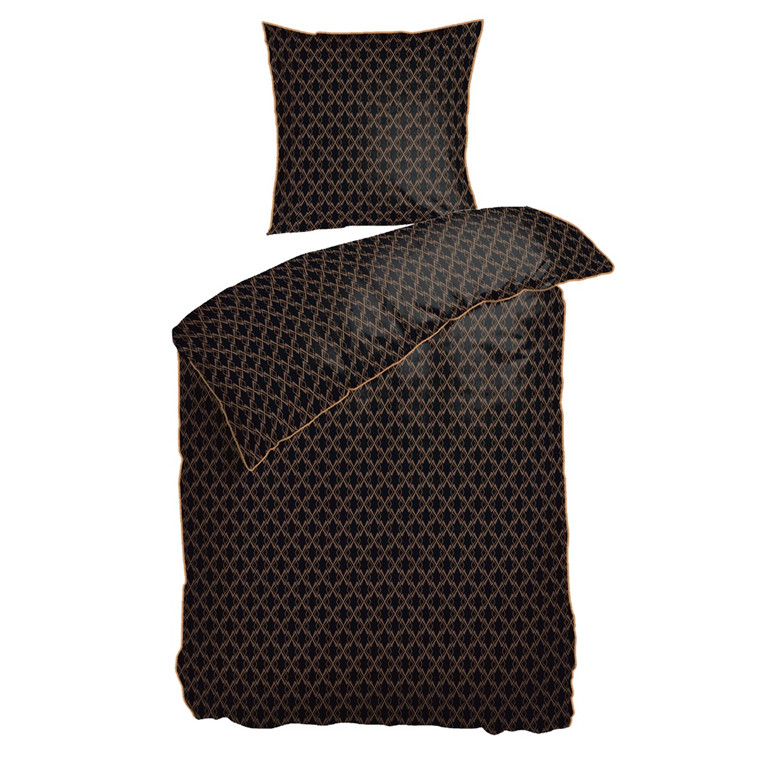 Night & Day sengesæt Gatsby Black 140x200